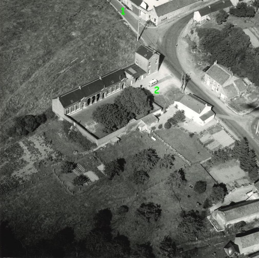 Floriffoux – rues de Dorlodot et Oscar Gubin – photo aérienne