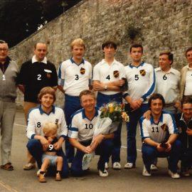 Floreffe – balle pelote – équipe championne de 1ère division régionale – 1982