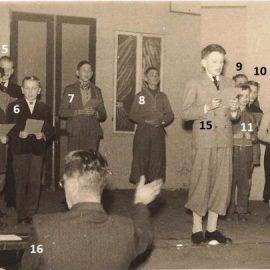 Floreffe – Avenue Charles de Gaulle – école primaire libre – fête scolaire – 1955 ou 1956