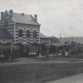 Franière – place de la gare – accident ferroviaire – 1917
