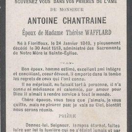 Floriffoux – souvenirs mortuaires – les patronymes CHANTRAINE