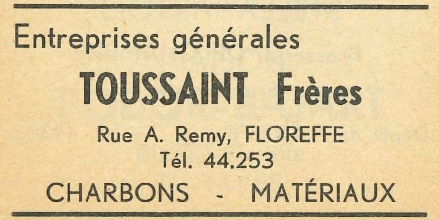 Floreffe – rue Adelin Remy – entreprise de construction Toussaint Frères