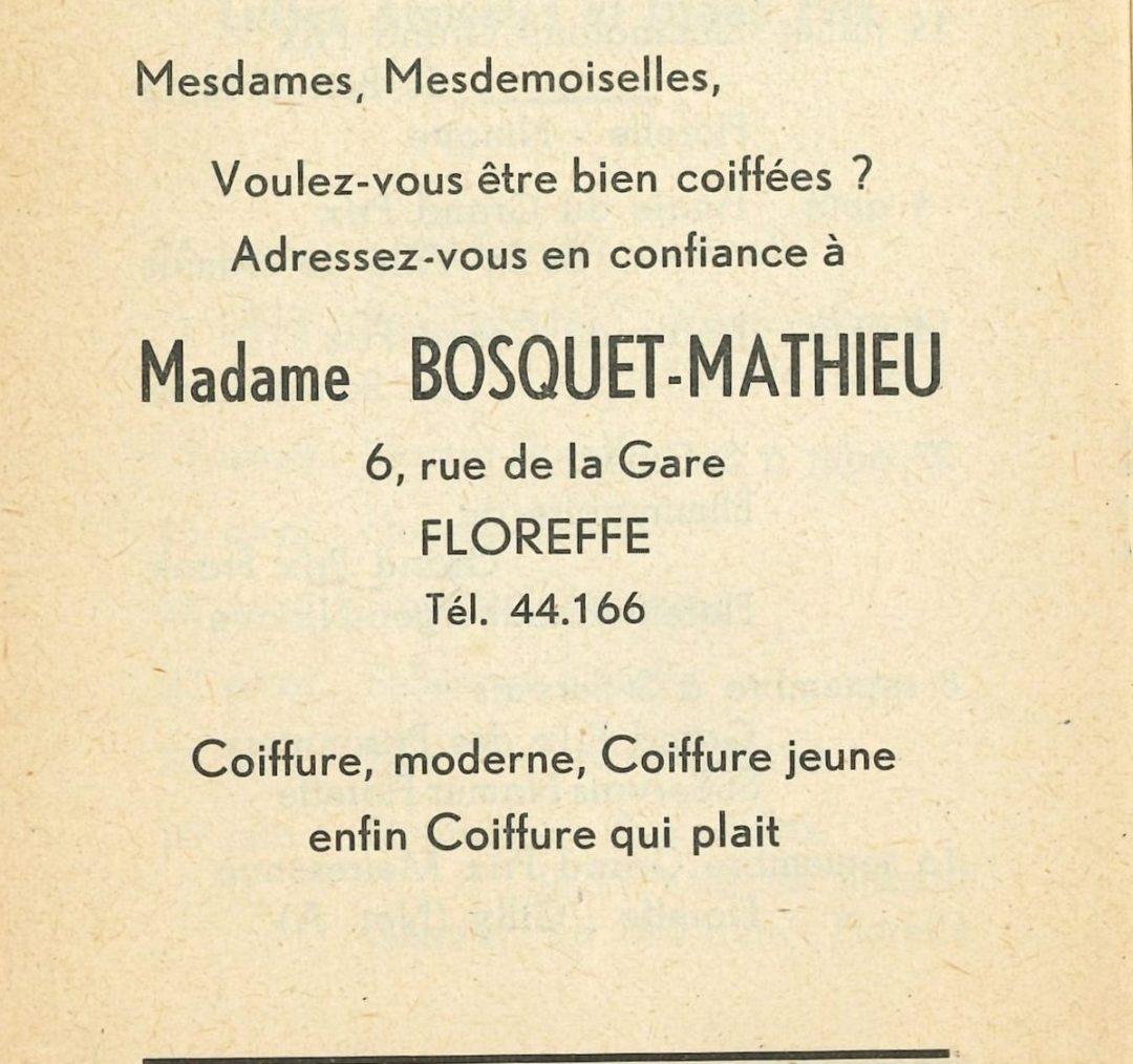 Floreffe – rue Célestin Hastir – coiffeuse Bosquet-Mathieu