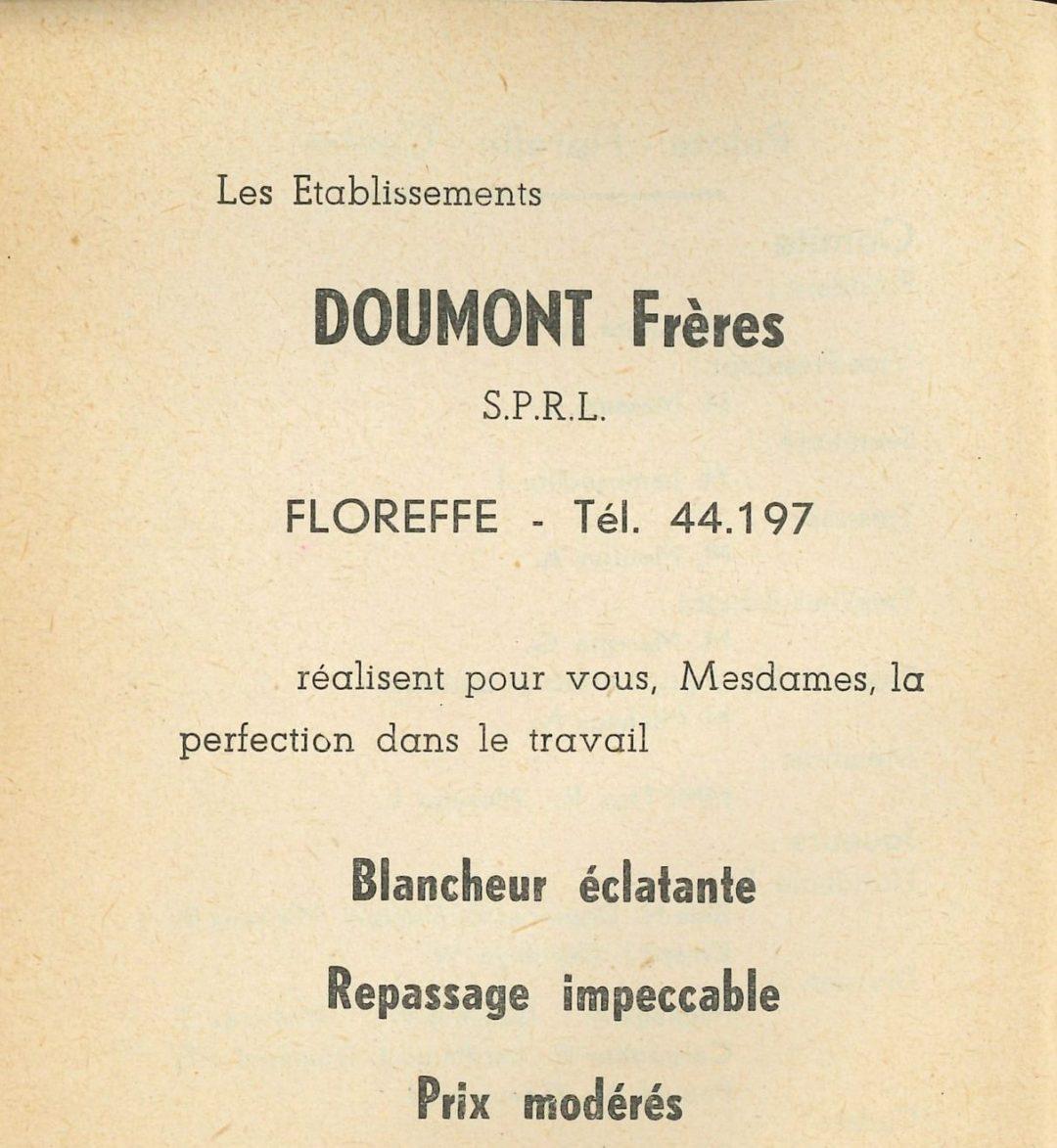 Floreffe – rue Saint-Martin – blanchisserie Doumont Frères