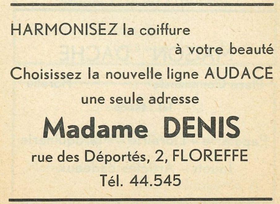 Floreffe – rue des Déportés – coiffeuse Denis