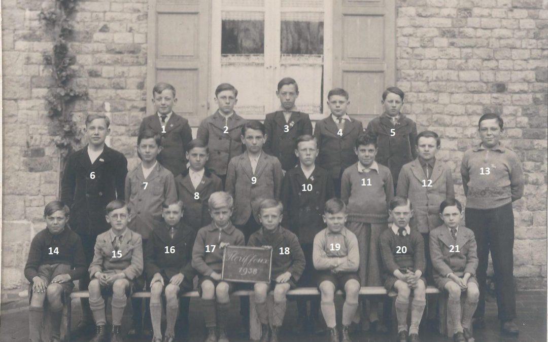Floriffoux – école primaire communale – classes de 1938