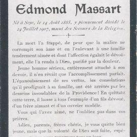 Soye – souvenirs mortuaires – les patronymes MASSART