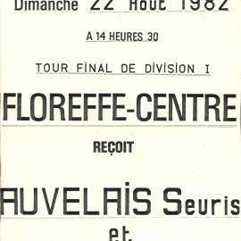Floreffe – balle pelote – tour final de division I régionale – 1982