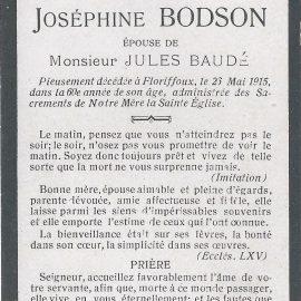 Floriffoux – souvenirs mortuaires – les patronymes BODSON