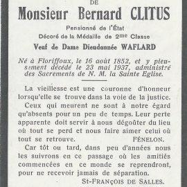 Floriffoux – souvenirs mortuaires – les patronymes CLITUS