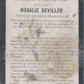 Floriffoux – souvenirs mortuaires – les patronymes DEVILLEZ