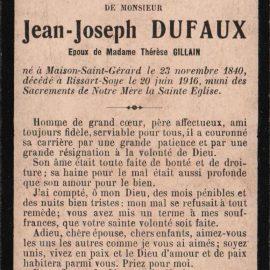 Soye – souvenirs mortuaires – les patronymes DUFAUX