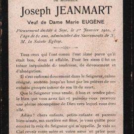Soye – souvenirs mortuaires – les patronymes JEANMART