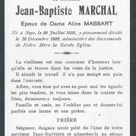 Soye – souvenirs mortuaires – les patronymes MARCHAL