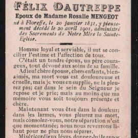 Floreffe – souvenirs mortuaires – les patronymes DAUTREPPE