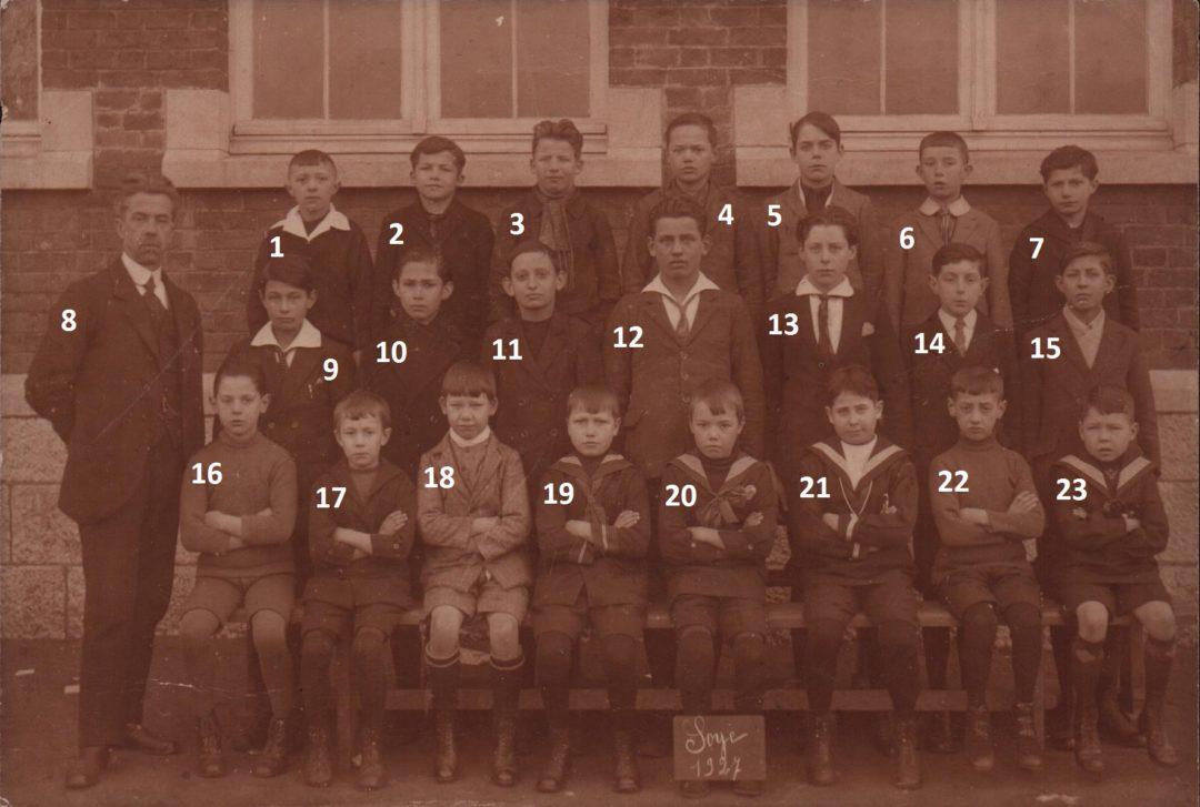 Soye – école primaire communale – photo de classe – année 1927