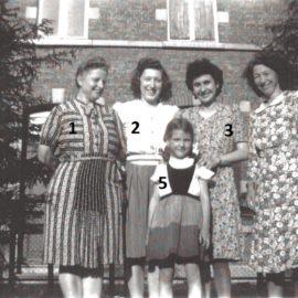 Floreffe – guerre 40-45 – devant le bureau de poste