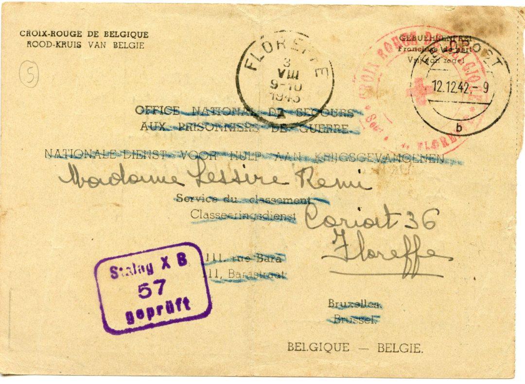 Floreffe – guerre 40-45 – Remi LESSIRE – prisonnier