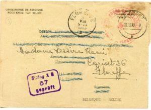 Remi Lessire 1942 correspondance _recto