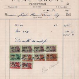 Floriffoux – entreprise de battage – René DACHE – 1952