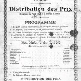 Soye – école primaire des filles – école gardienne – distribution des prix – 1905