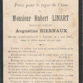 Floreffe – souvenirs mortuaires – les patronymes LINART