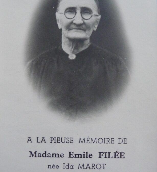 Floreffe – souvenirs mortuaires – les patronymes MAROT