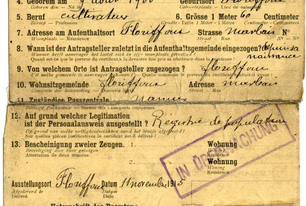 Floriffoux – Ausweis – Alexandre NAMUR – 1900