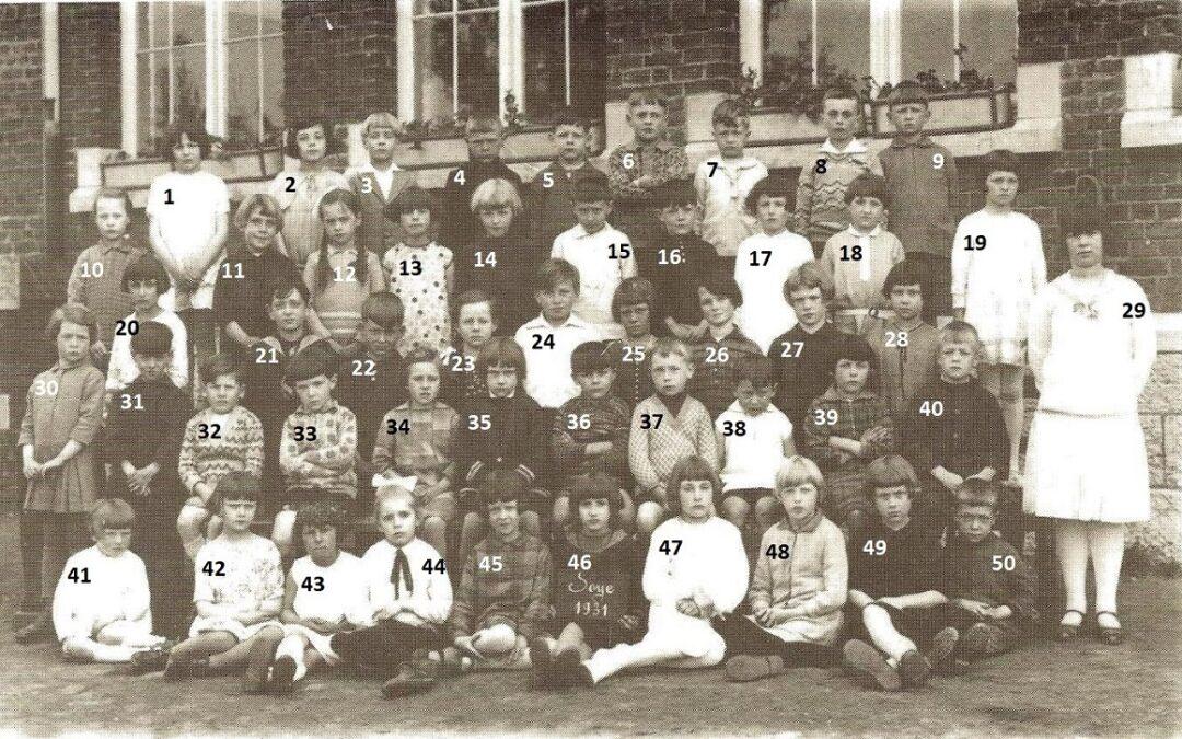 Soye – école maternelle communale – photo de classe – année 1931
