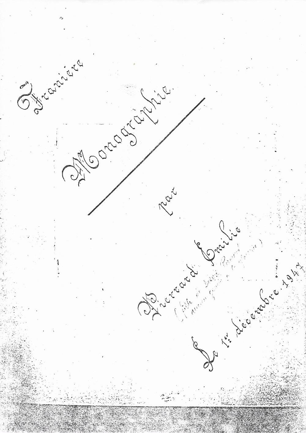 Franière – monographie – Emilie PIERRARD – 1947