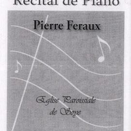 Soye – musique classique – Pierre FERAUX – concert 30 septembre 2006