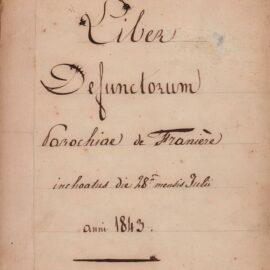Franière – Paroisse – Registre des décès – 1843-1906