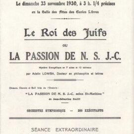 Floreffe – théâtre – le Roi des Juifs – 1930