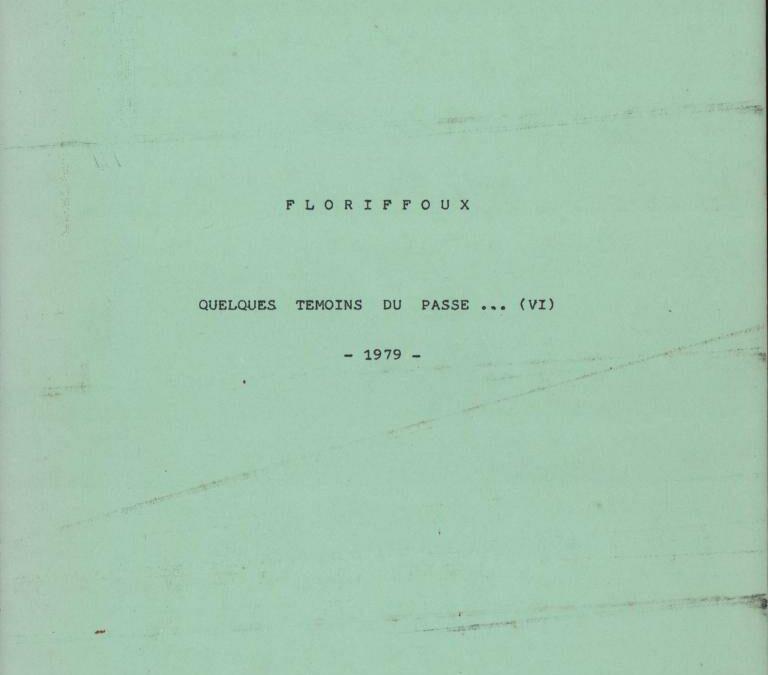 Floriffoux – quelques témoins du passé – VI